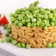Stock Photo: Rice and pea