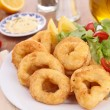 Fried calamari rings — Stock Photo