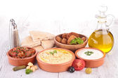 Lebanese food, cold mezze — Stock Photo