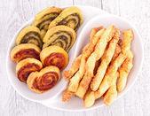 Snack food, crackers — Stock Photo