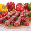 Pieces of meat with vegetables — Stock Photo #30866939