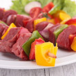 Pieces of meat with vegetables — Stock Photo #30867033