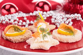 Appetizer for holiday — Stock Photo