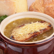 Onion soup — Stock Photo