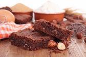 核仁巧克力饼和配料 — 图库照片