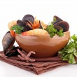Mussel and shrimp — Stock Photo