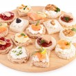 Stock Photo: Assortment of canape,toast