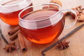 Red tea and spices — Stock Photo