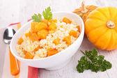 Pumpkin risotto — Stock Photo