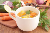 Bowl of soup — Stock Photo
