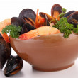 Crustacean soup — Stock Photo