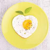 Egg heart shape — Stock Photo
