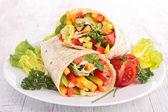 Vegetable wrap — Stock Photo