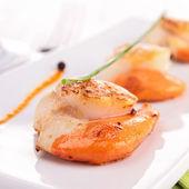 Fried scallop — Stock Photo