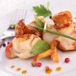 Stock Photo: Seared scallop with mushroom