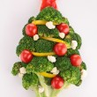 Christmas tree with vegetables — Stock Photo #33293049