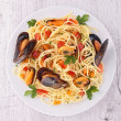 Spaghetti and crustacean — Stock Photo #33354387