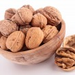 Bowl of walnuts — Stock Photo