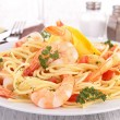 Spaghetti and crustacean — Stock Photo #33354915