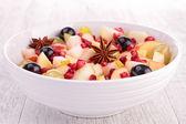 Autumn fruit salad — Stock Photo