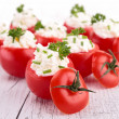 Stock Photo: Tomato garnish with cheese cream