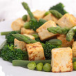 Stock Photo: Tofu and vegetables