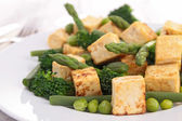Tofu and vegetables — Stock Photo