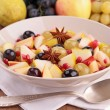 Autumn fruit salad — Stock Photo #34087381