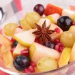 Autumn fruit salad — Stock Photo
