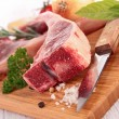 Raw lamb chops — Stock Photo