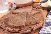 Buckwheat crepe with ingredient — Stock Photo