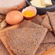 Buckwheat crepe with ingredient — Stock Photo #34162243