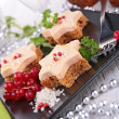 Finger food, star shape canape — Stock Photo
