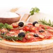 Raw pizzdough and ingredient — Stock Photo #34998775