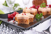 Canape, christmas or new year toast — Stock Photo