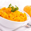 Stock Photo: Pumpkin puree