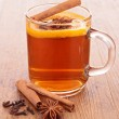 Red tea with spices — Stock Photo