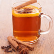 Stock Photo: Red tea with spices