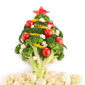 Christmas tree with vegetables — Stock fotografie