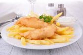 Fish chips — Stock Photo