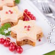 Stock Photo: Canape, christmas or new year toast
