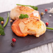 Stock Photo: Seared scallop