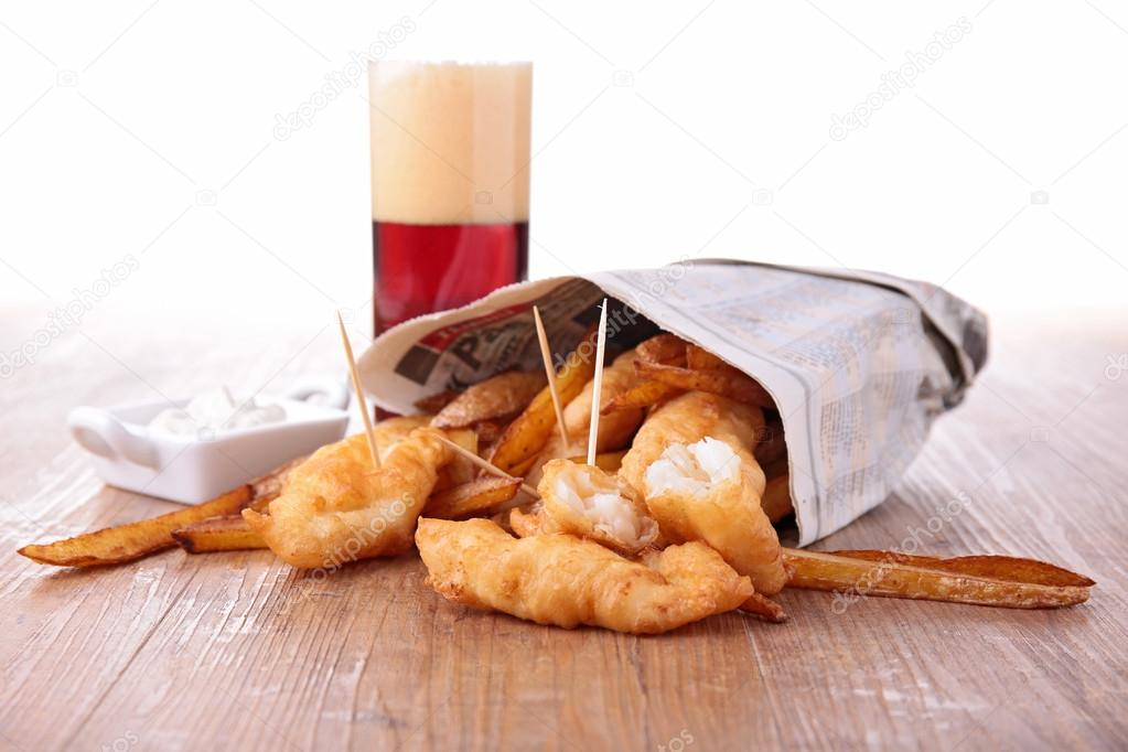 Fish and chips in newspaper stock photo studiom 35036551 for Fish and chips newspaper