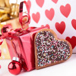 Gift decoration — Foto Stock