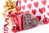 Gift decoration — Stock Photo