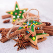 Christmas gingerbead cookies — Stock Photo