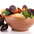 Bowl of crustacean — Stock Photo