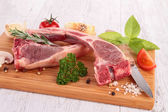 Raw lamb chop — Stock Photo