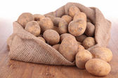 Potato in bag — Stock Photo