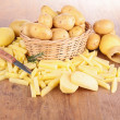 Raw homemade french fries — Stock Photo